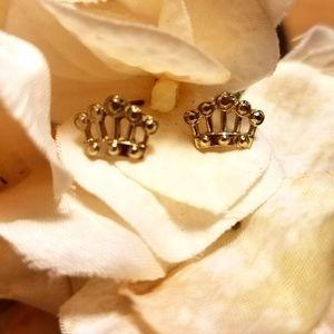 💍 little golden crown earrings